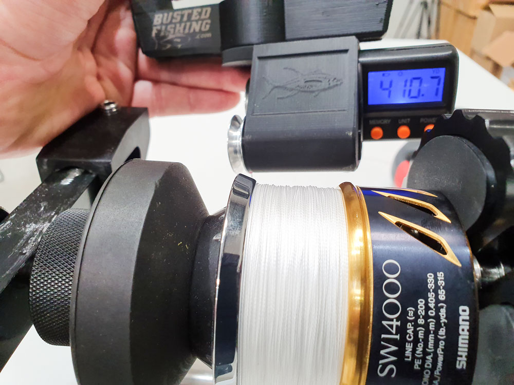 How much line can you fit on a fishing reel